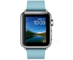 Смарт часы Apple Watch 38mm Stainless Steel Case with Blue Jay Modern Buckle - Medium (MMFA2)