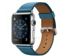 Смарт часы Apple Watch 42mm Stainless Steel Case with Marine Blue Classic Buckle (MMFU2)