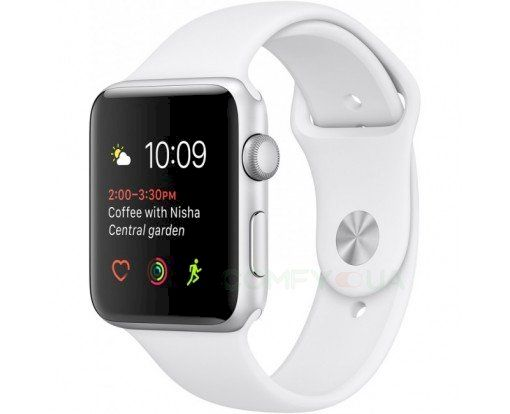 Смарт-часы Apple Watch Series 1 42mm Silver Aluminium Case with White Sport Band (MNNL2