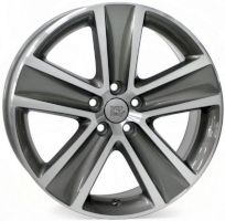 WSP Italy W463 CROSS POLO ANTHRACITE POLISHED R16 W7 PCD5x100 ET46 DIA57.1