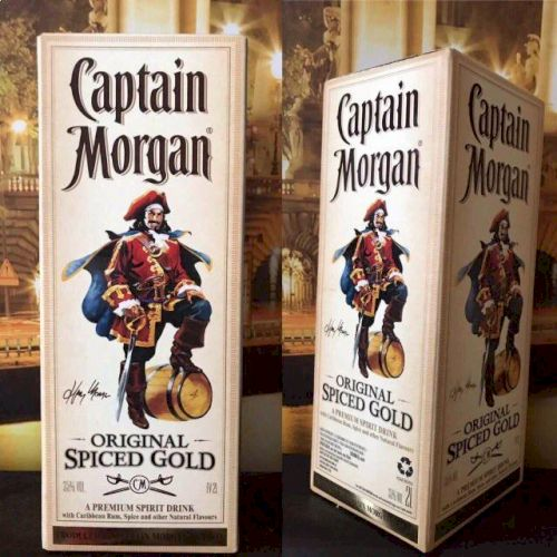 Ром Capitan Morgan Spiced Gold (Капитан Морган) - 2 литра