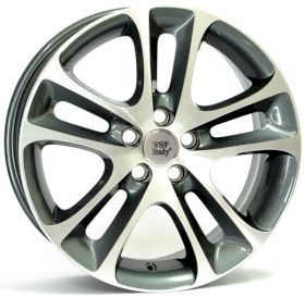 WSP Italy W1255 C30 NIGHT ANTHRACITE POLISHED R18 W7.5 PCD5x108 ET52.5 DIA63.4